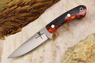 Zoe Crist Kestrel Hybrid Maple Burl - Red & Yellow - Black Liners