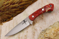 Zoe Crist Kestrel Red & Gold Elder Burl