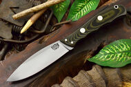Bark River Canadian Special 3V Black & Green Linen Micarta