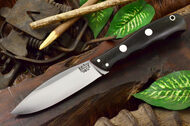 Bark River Canadian Special 3V Black Canvas Micarta - Red Liners