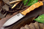 Bark River Canadian Special 3V Natural Canvas Micarta - Matte - Green Liners - Brass Pins