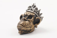 Lion ARMory Ape King Bead - Brass/Silver Limited Edition