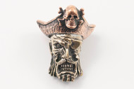 Lion ARMory Captain Blackbeard Bead - Brass/Copper Limited Edition