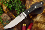 Bark River Classic Clip Point 3V Black Canvas Micarta