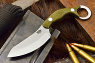 JX4 Bushbat Green Canvas Micarta