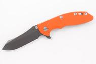 "Hinderer 3.5"" XM-18 Skinner - Anthracite DLC - Blaze Orange G-10"