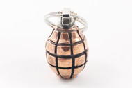 Lion ARMory Large Hand Grenade Pendant - Copper/Silver Limited Edition