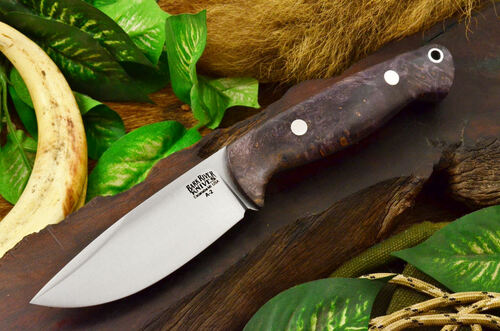 Bark River North Country EDC Purple Natural Elder Burl