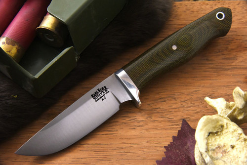 Bark River Fieldsman Green Canvas Micarta