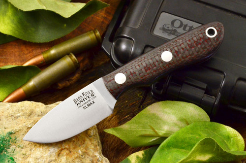 Bark River PSK Elmax Red & Black Carbon Fiber