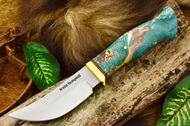 Jesse Hemphill High Falls - Moran Handle - Teal & Maroon Box Elder Burl
