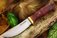 Jesse Hemphill Point Rock - Moran Handle - Maroon Box Elder Burl