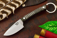Bark River Ringtail Black & Green Linen Micarta - Matte