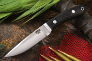 Bark River Blackwater II Black Canvas Micarta