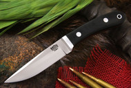 Bark River Blackwater II Black Canvas Micarta - Red Liners