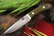 Bark River Blackwater II Green Canvas Micarta - Red Liners