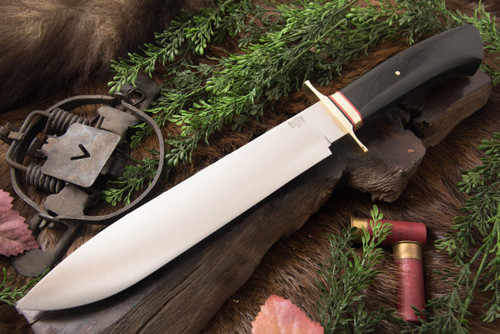 Bark River 1909 Michigan Bowie - Drop Point - Saber Handle - Black Canvas Micarta