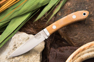 Bark River Blackwater Natural Canvas Micarta - Matte
