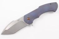 Barrett Custom Knives Fallout Midtech - Blue Anodized #1