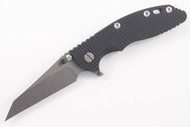 "Hinderer 3.5"" XM-18 Fatty Wharncliffe - Black G-10 - Blue Anodized"