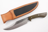 Lon Humphrey Gunfighter Bowie Green Canvas Micarta #3