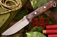 Bark River Bravo 1 S35VN Purple & Red Elder Burl