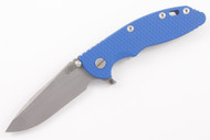 "Hinderer 3.5"" XM-18 Fatty Spanto - Blue G-10 - Working Finish Blade - Battle Blue"
