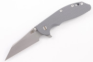 "Hinderer 4"" XM-24 M390 Wharncliffe - Full Working Finish -  Gray G-10"