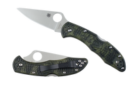 Spyderco Delica 4 Lightweight - Zome Green Flat Ground