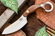 Bark River JX4 Bushbat American Walnut - Black Liners - Brass Pins
