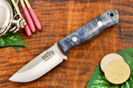 Bark River Bravo Micro Elmax Blue Maple Burl