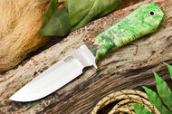 Bark River Fieldsman - Coffin Handle -  Green & Gold Burl
