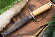Blackjack Model 1-7 Damascus - Antique Ivory Micarta