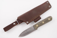 LT Wright Genesis 3V - Scandi - Green Micarta - Matte Finish