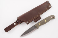 LT Wright GNS 3V Green Micarta - Matte Finish - Scandi