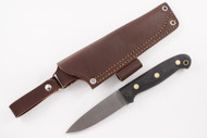 LT Wright GNS AEB-L Convex Black Canvas Micarta - Matte