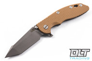 "Hinderer 3.5"" XM-18 Fatty Harpoon Tanto - Coyote G-10 - Full Working Finish"