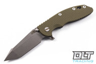 "Hinderer 3.5"" XM-18 Fatty Harpoon Tanto - OD Green G-10 - Full Working Finish"