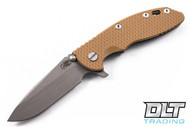 "Hinderer 3.5"" XM-18 Spearpoint - Coyote G-10 - Working Finish Blade - Battle Green"