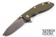 "Hinderer 3.5"" XM-18 Slicer - OD Green G-10 - Working Finish Blade - Battle Green"