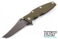 Hinderer Eklipse Bowie - OD Green G-10 - Full Working Finish