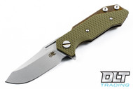 Hinderer Half Track - OD Green G-10 - Bronze Anodized