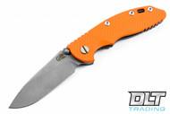 """Hinderer 3.5"""" XM-18 Non Flipper Slicer - Full Working Finish - Blaze Orange G-10"""