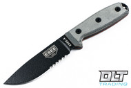 ESEE 4S - Partially Serrated - Black Blade