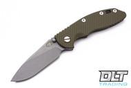 """Hinderer 3.5"""" XM-18 Non Flipper Slicer - Full Working Finish - OD Green G-10"""