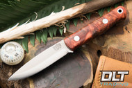 Mini Bushcrafter 3V Black & Scarlet Maple Burl - #1