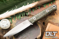 Mini Bushcrafter 3V Green Herringbone - Natural & Blue Liners - Mosaic Pins