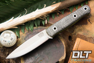 Mini Bushcrafter 3V Oreo Micarta - Toxic Green & Natural Liners - Hollow Pins