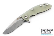 """Hinderer 3"""" XM-18 Recurve - Translucent Green G-10"""