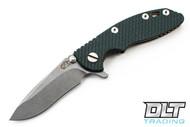 """Hinderer 3"""" XM-18 Recurve - Dark Green G-10 - Bronze Anodized"""